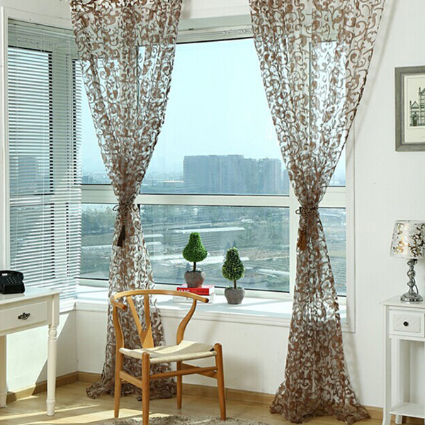 Past Type Sheer Window Screens Door Balcony Curtain Panel Scarf Valances Voile In Curtains From Home Garden On Aliexpress Alibaba Group