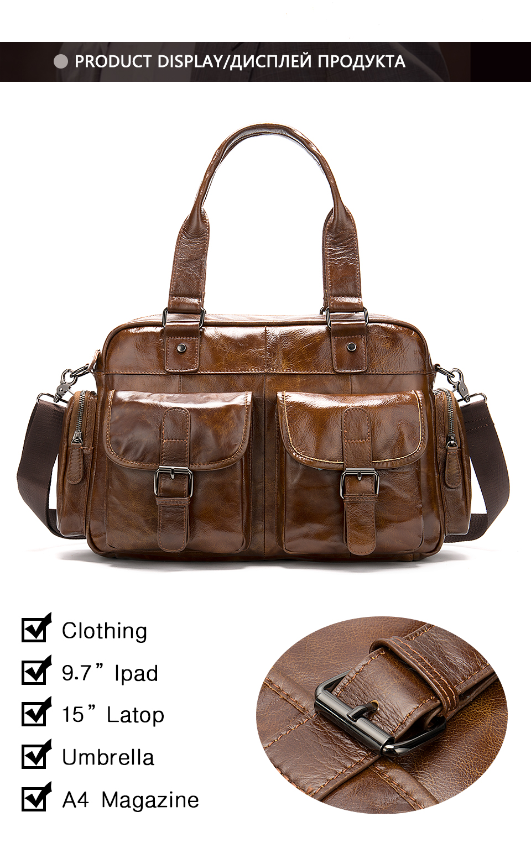 4 men\`s briefcase bag men\`s genuine leather bag mens briefcase messenger bags business laptop office bags for men handbag