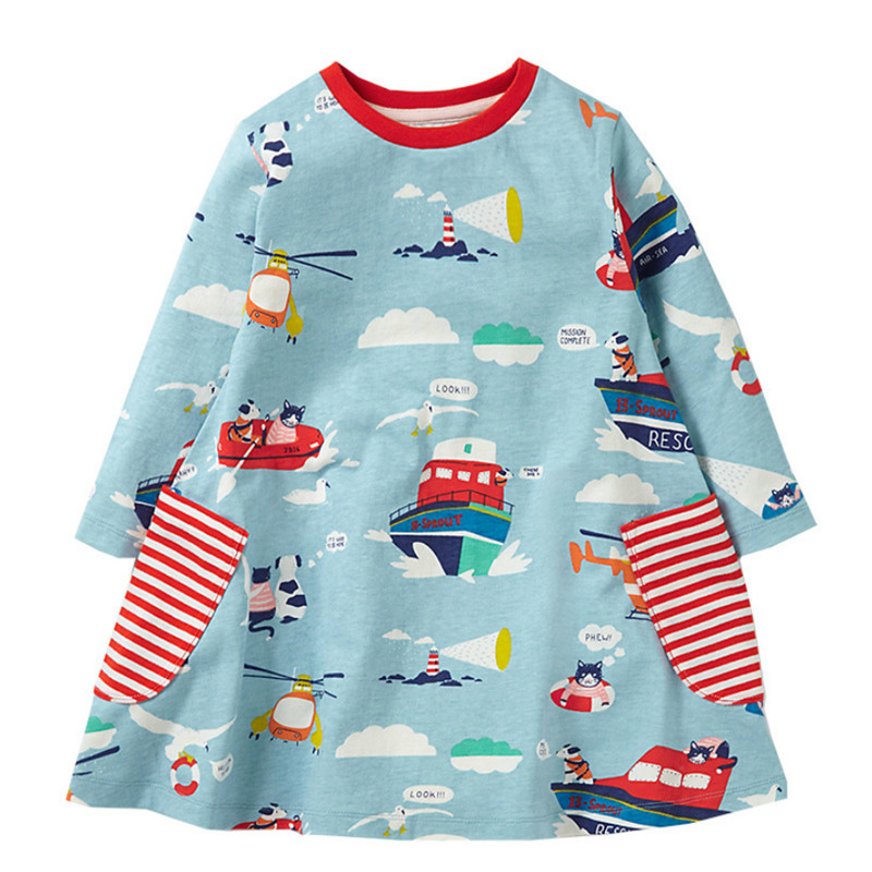Toddler Dresses child Girls Clothing Cotton 2017 Brand Autumn Baby Girls Dress Tunic knitted casual frocks