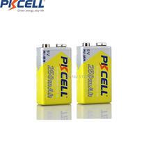 2x Nimh 9V Thermometer Oplaadbare Batterij 250Mah 6LR61 E22 MN1604 MN1604 9V Voor Microfoon Elektrische Scheerapparaten Dvd speelgoed