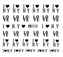 Nail Art Sticker Water Decals Love Heart English Letter Design Decoration Manicure Nails Slider Stickers Foil Wraps Pegatinas