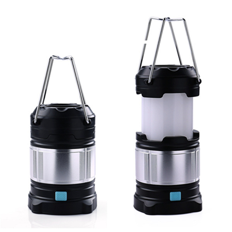 New Hot Portable Rechargeable LED Camping Lantern Flashlights & 4400mah USB <font><b>Power</b></font> Bank With High Quality Linternas Camping