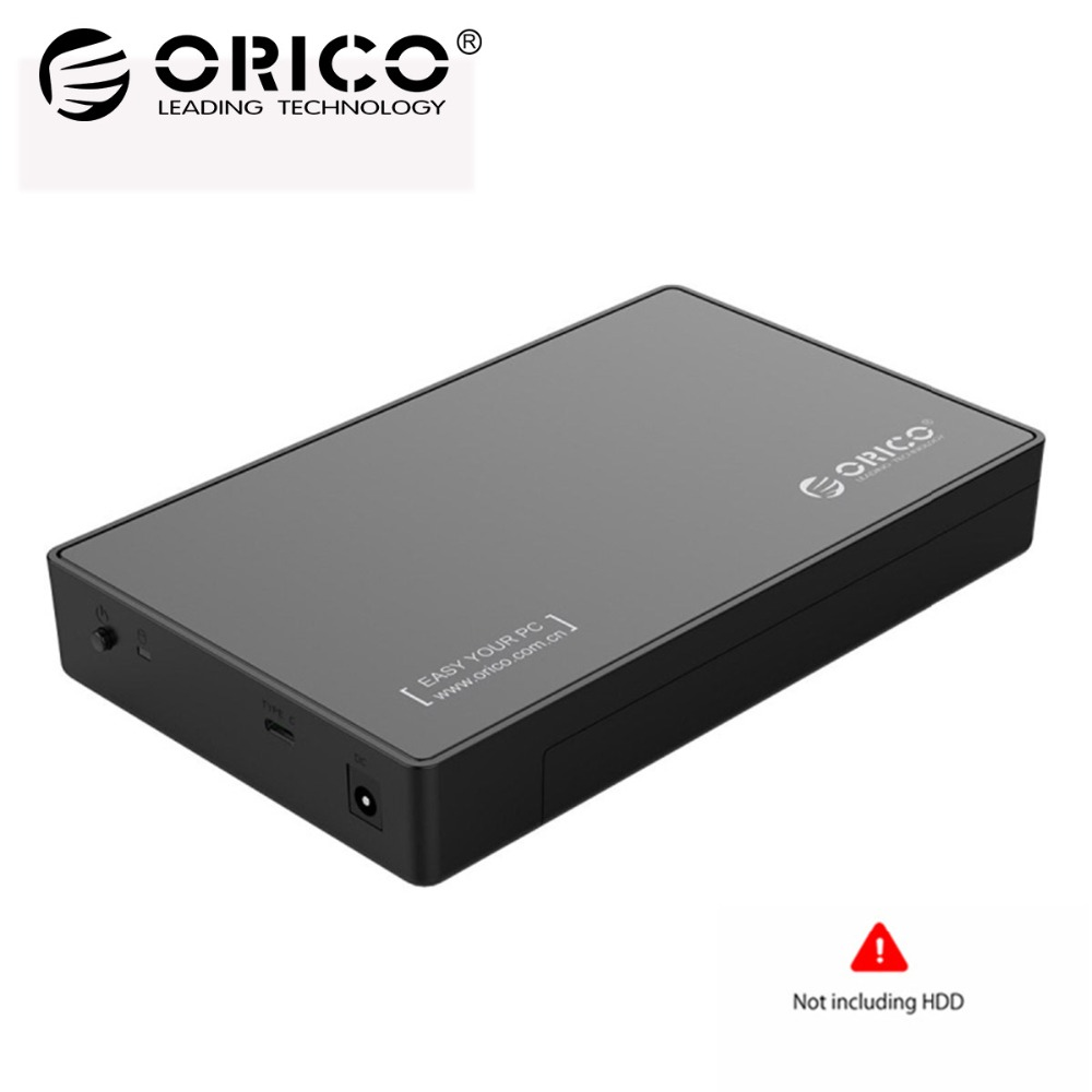 ORICO 3588C3 HDD Case SATA 3.0 to Type C Gen 1 2.5 3.5 inch SSD Sata Hard Drive Enclosure Storage Support UASP Protocol For HDD 1 8 160gb mk1634gal ssd hard drive replace toshiba mk1634gal hdd for ipod classic 7th gen
