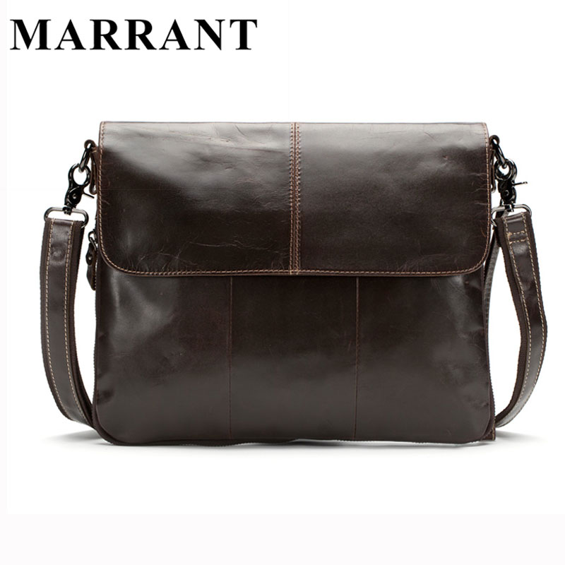 ФОТО MARRANT Genuine Leather Men Bags Men's Crossbody Bag New Travel Bag Male Messenger Men Bags Leather Casual Shoulder Handbag Tote