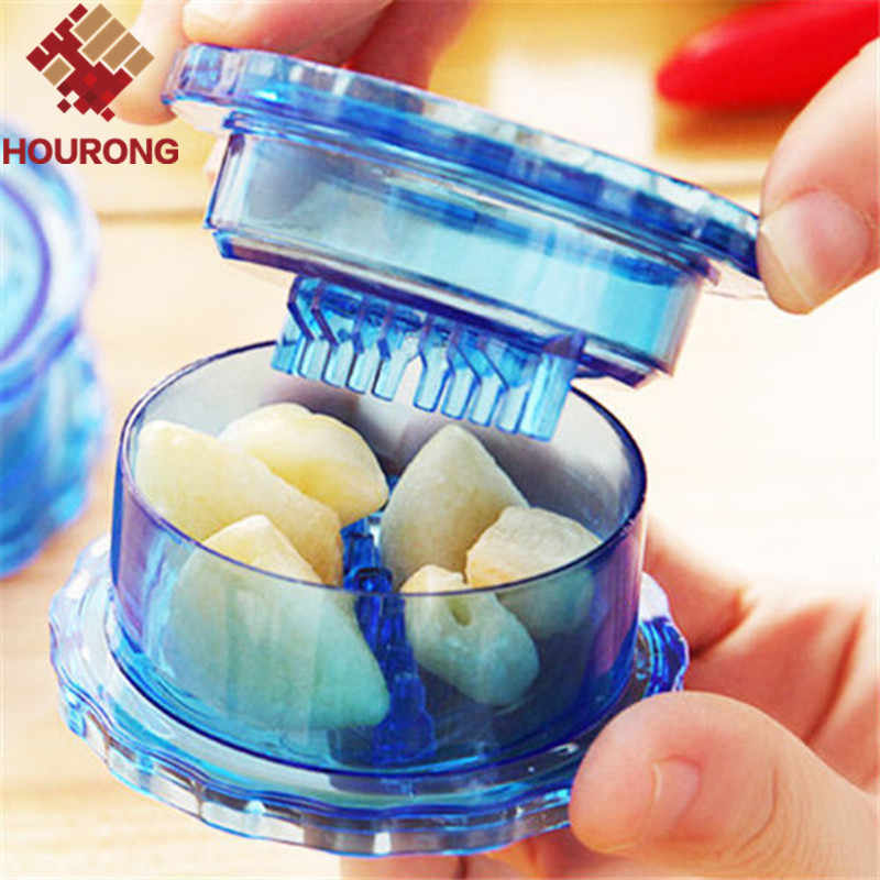 HOURONG 1Pc  Creative Garlic Press Cooking Tools Stir Garlic Peeler Crusher Twist Novelty Households  Kitchen Accessories