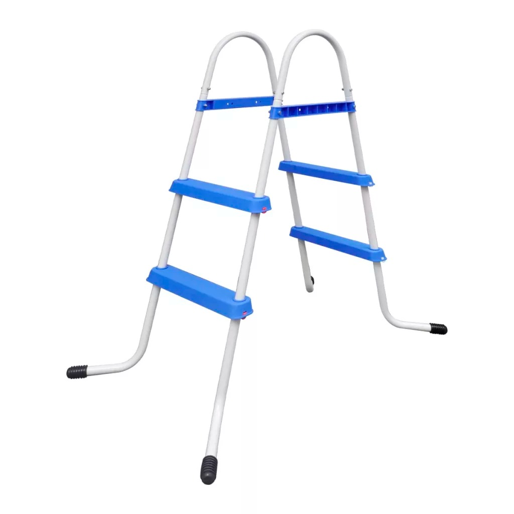 VidaXL Non-Slip Steps Steel Frame Pool Ladder For Swimming Pool Max Height 84cm Laminated Swimming Pool Swimming Pool Accessary