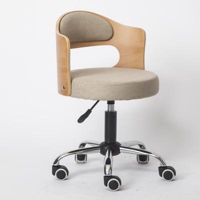 Луи Модные Офисные стулья из цельной древесины подъемная маленькая Квартира Компьютер современный минималистский студенческий обучающий стол Небольшой Поворотный - Цвет: G4
