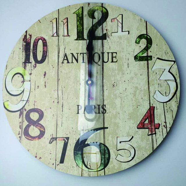 Antique Paris Decorative Large Wall Clock Silent Living Room Wall Decor Saat Home Decoration Watch Wall Christmas New Year Gift