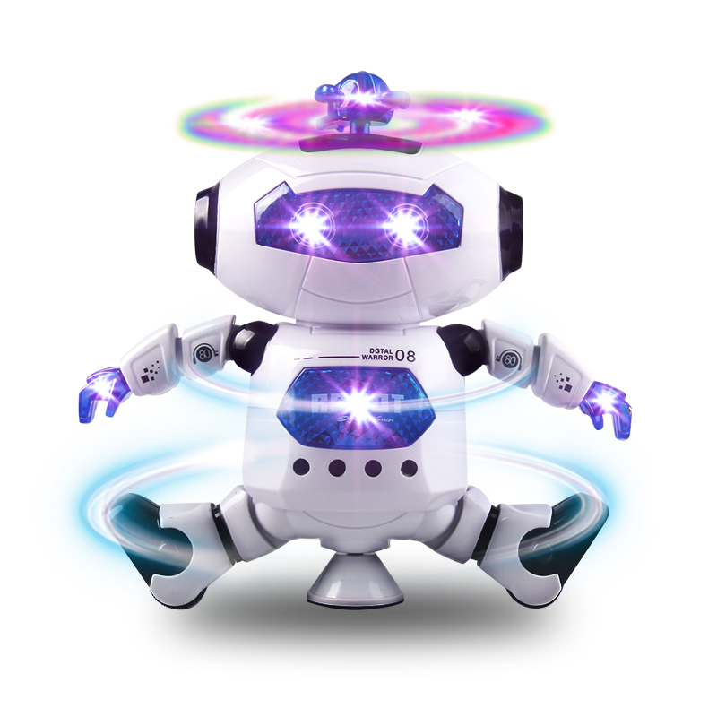 цена 21CM Rotating Smart Space Dance Robot Electronic Walking Toys With Music Light Astronaut Toy For Kid Christmas Birthday boy Gift
