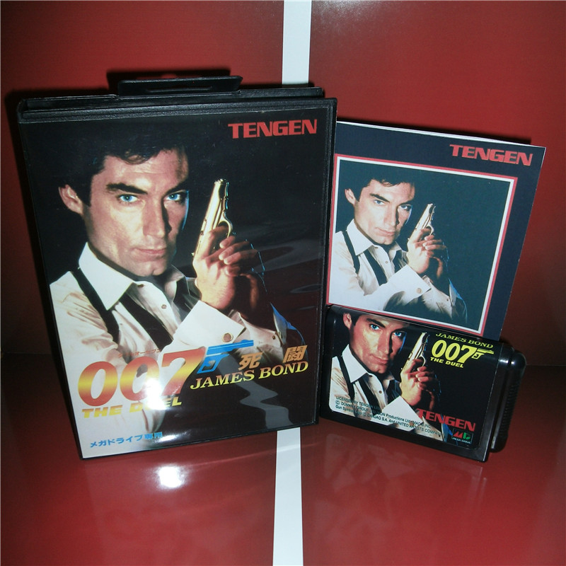 James Bond 007 - The Duel Japan Cover with box and manual for Sega MegaDrive Genesis Video Game Console 16 bit MD card