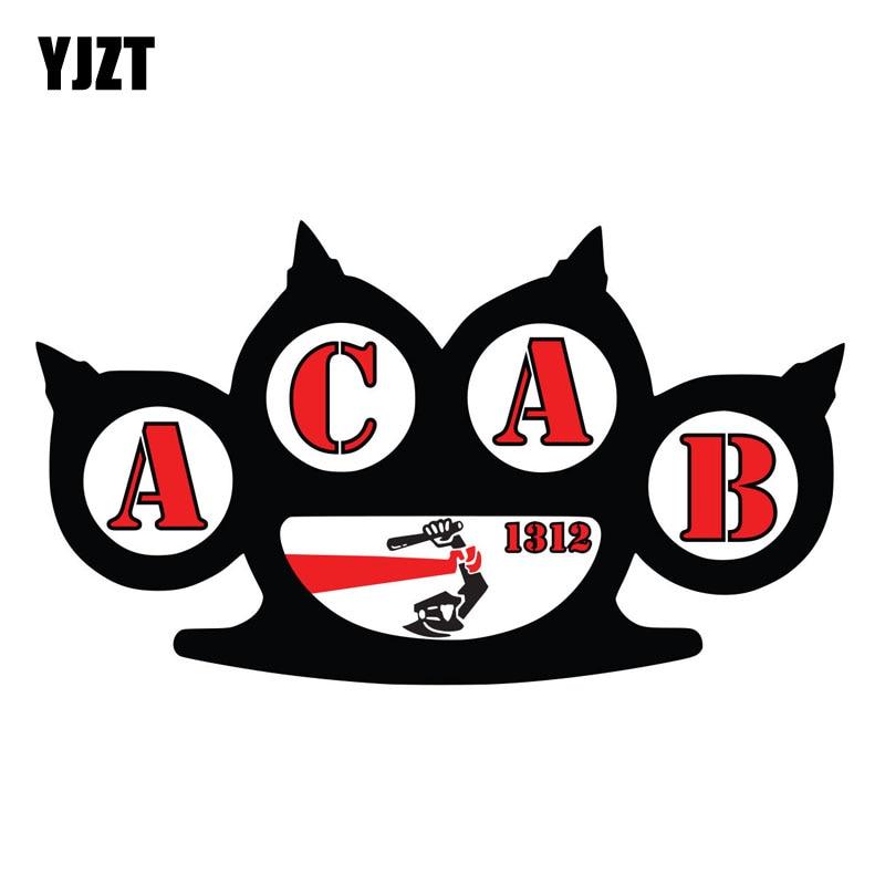 YJZT 15CM*8.4CM Funny ACAB 1312 Sticker Decal Car Accessories PVC Car Styling 6-2256