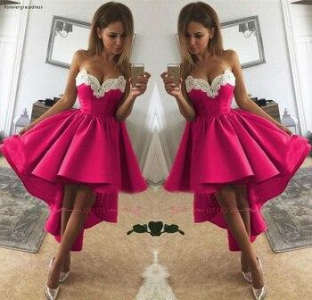 2019 Fuchsia Short Homecoming Dress A Line Sweetheart Neck Juniors Sweet 15 Graduation Cocktail Party Dress Plus Size