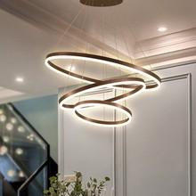 Modern LED Circle Pendant Lights For Living Room Indoor Home Hanging Lamps Fixture With Remote Restaurant Dining Decor Luminaire цена в Москве и Питере