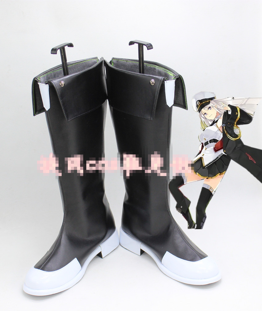 Anime Azur Lane Cosplay Black shoes Cosplay Boots Shoes Custom Made 1