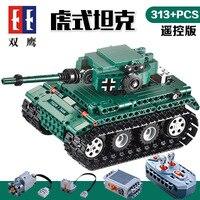 C51018 German Tiger Tank RC 313Pcs Building Blocks Toys for Children Technic Weapon education model