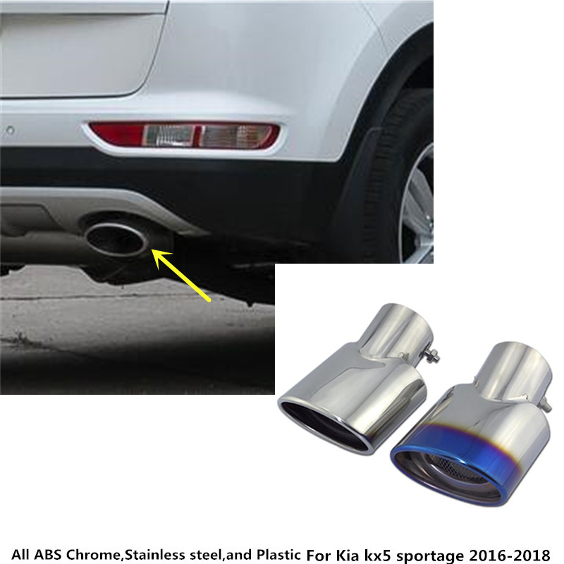Free shipping car muffler exterior end pipe outlet dedicate stainless steel exhaust tip tail For Kia kx5 Sportage 2016 2017 2018Free shipping car muffler exterior end pipe outlet dedicate stainless steel exhaust tip tail For Kia kx5 Sportage 2016 2017 2018
