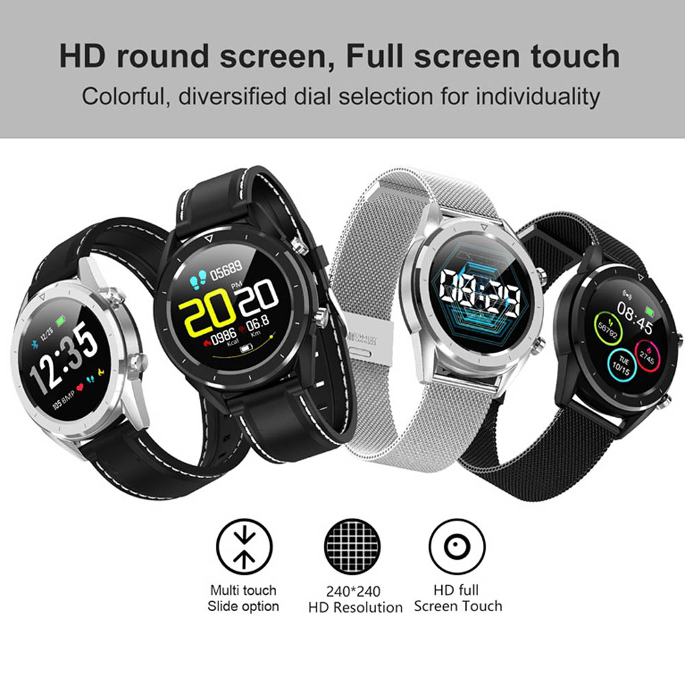 Letine DT28 Smart Watch Mobile Payment ECG Heart Rate Monitor Fitness Tracker Multiple Sports Modes Full Screen Touch Smartwatch