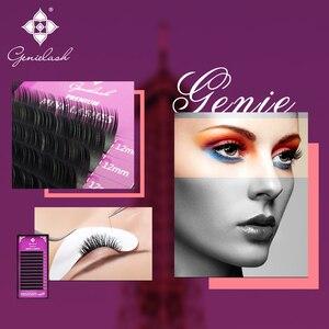 Image 2 - Genielash الفردية الرموش رموش تمديد كثيفة جودة عالية كاذبة رموش بالمنك ماكياج المهنية 50pcs/مجموعة