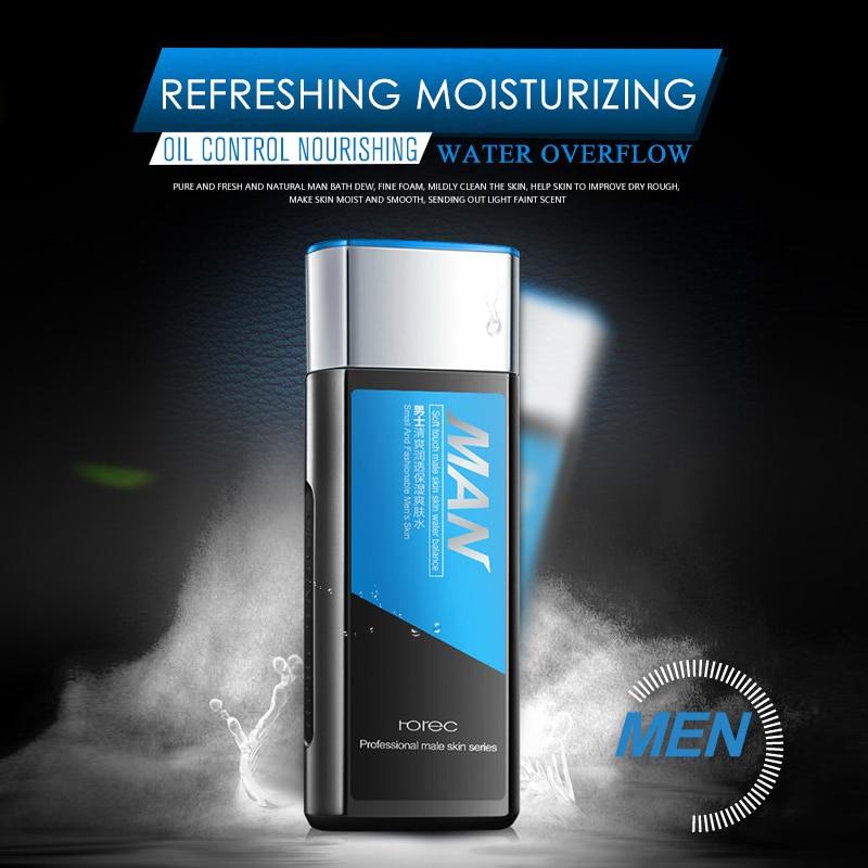 ROREC MEN Balancing Herbal Toner Skin Facial Face Whitening Toner Moisturizer Water Oil Control Shrinking Pore Skin Care 130ML 3