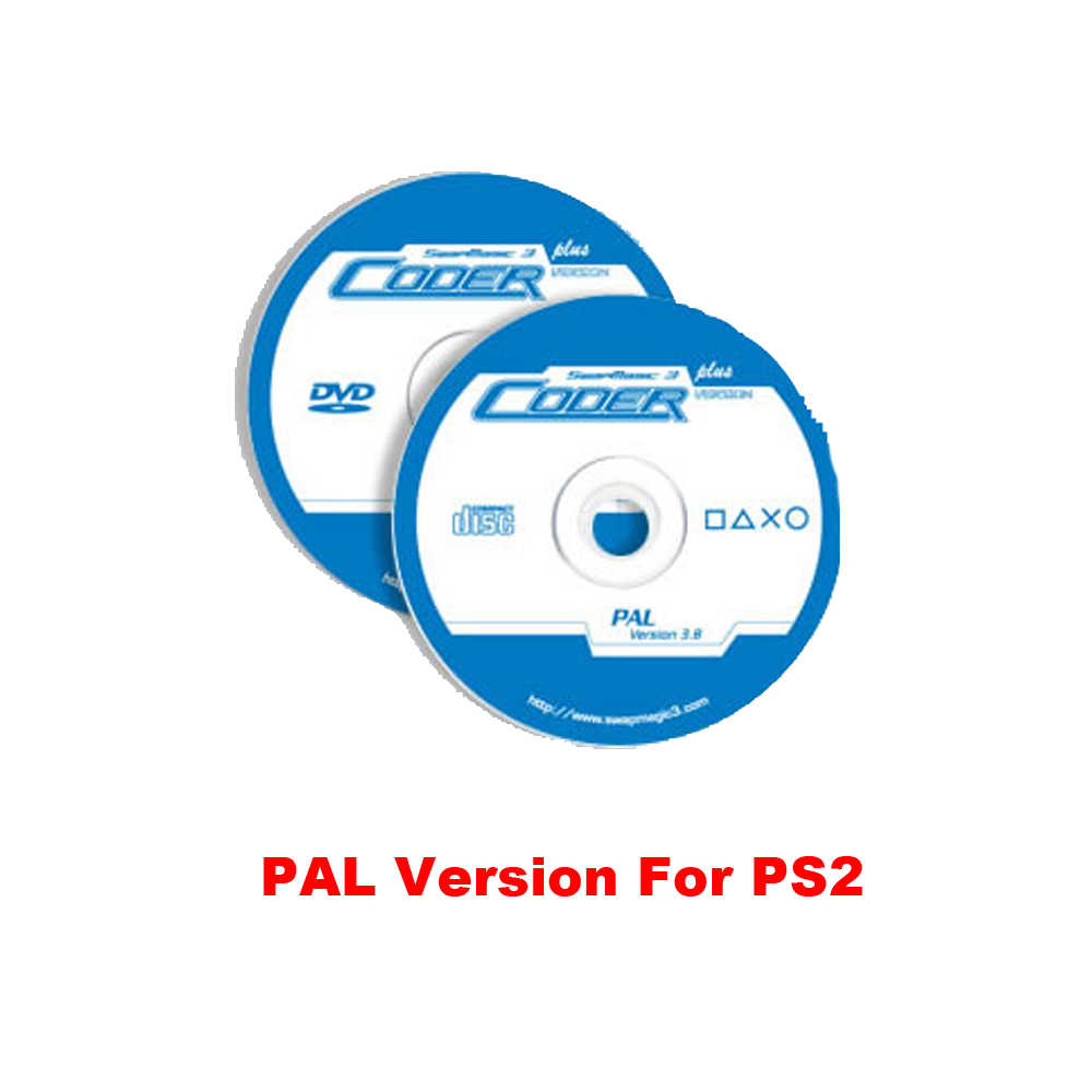 SwapMagic 3 Coder V3.8 PAL CD, DVD för PS2 pal versionskonsol
