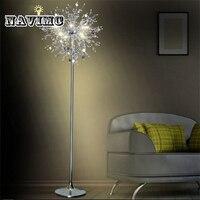 Кристалл гостиная стенд торшер современный цветок пол свет для спальня фойе Nordic американский стиль настольная лампа