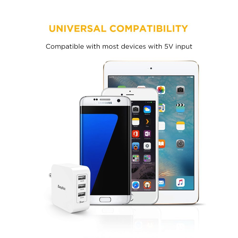 USB Charger Universal Quick Charger 36W 7 2A Wall Charger 3 Port USB Travel Smart Charge Technology for iPhone 7 Samsung Xiaomi in Mobile Phone Chargers from Cellphones Telecommunications