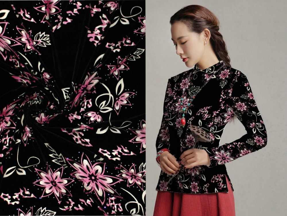 Высокое качество африканский кружево шелк ткань для шторы косплэй платье Рождество хлопок бархат метр розовые цветы с ston ткани