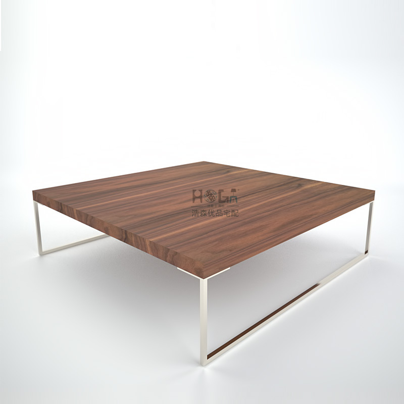 New Modern Minimalist Style Square Wooden Coffee Table Tea Natural Wood Leather Scandinavian Designer Furniture In Bar Tables From On