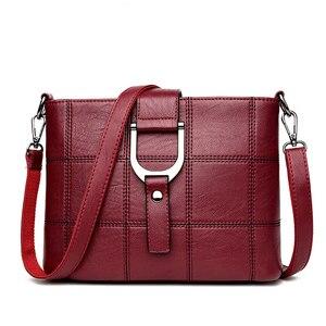 Image 2 - Роскошные клетчатые сумочки PHTESS, женские сумки, дизайнерские Брендовые женские сумки через плечо для женщин, кожаная женская сумка