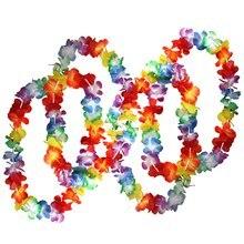 Горячая 50 x тропические Гавайские цветочные ожерелья по большому количеству ожерелья-Hawai цветочный костюм идеальные аксессуары для них
