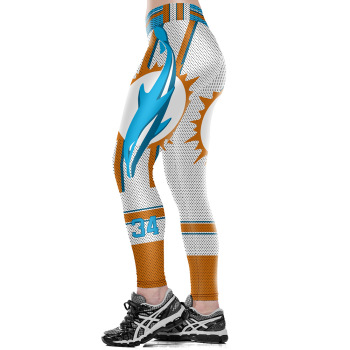 Unisex Football Team Dolphins 34 Tight Pants Workout Gym Training Running Yoga Sport Fitness Exercise Leggings Dropshipping
