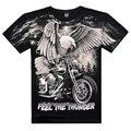 New 2016 Arrival 3D Printed On Shoulder Camisetas Casual Men's Wear Cotton Eagle Cool Summer T Shirt Famous Brand Men Clothing
