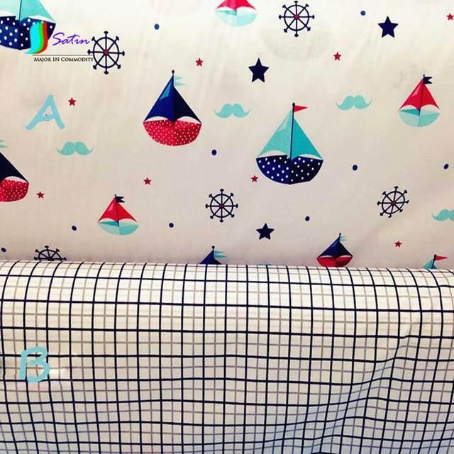 Segel/bart/Gitter Muster Baumwolle Stoff Für Kind Quilts, Kissen ...
