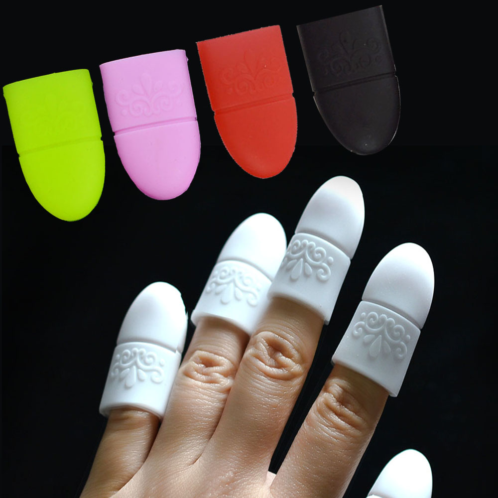 1pc Nail Art Soak Off Polish Remove Finger Cap Reusable