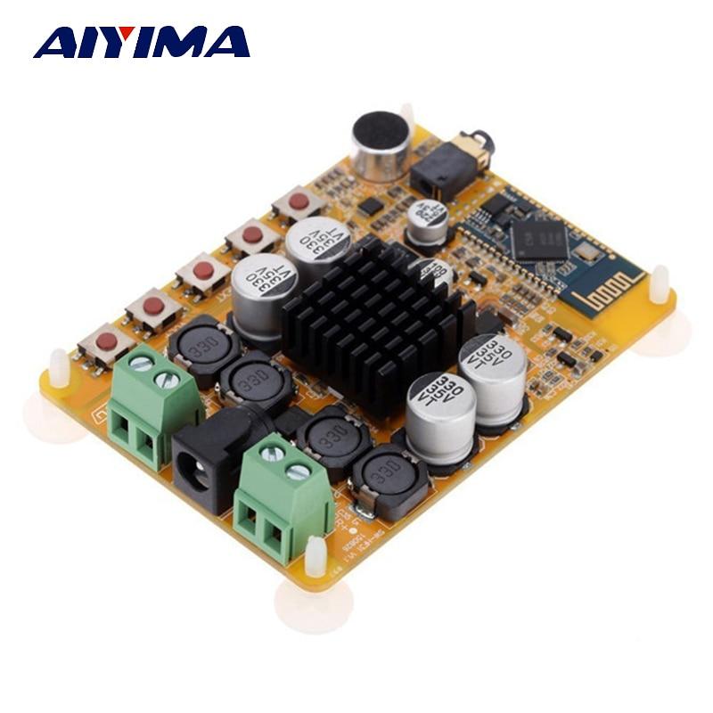 Aiyima Tda7492 Audio Amplifier Board 2*50w Two Channel Csr86354.0 Bluetooth Digital Amplifier Board With Microphone