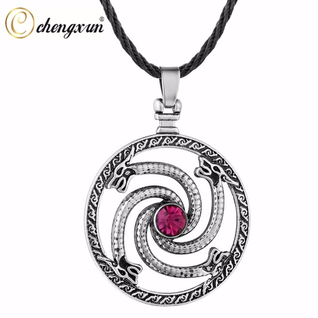 Chengxun men vintage jewelry gothic necklace circle dragon original chengxun men vintage jewelry gothic necklace circle dragon original animal viking runes pendant red cz fashion aloadofball Gallery