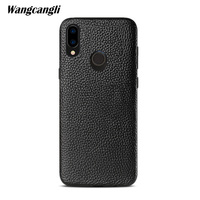 High end custom leather lychee retro protective cover for huawei nova 3 case all inclusive soft shell business shell custom