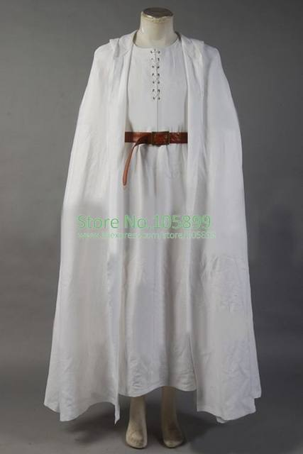 The Lord of the Rings Gandalf Costume White Robe Cape Long Cape Halloween Cosplay Costume & Online Shop The Lord of the Rings Gandalf Costume White Robe Cape ...