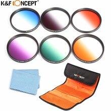 K & F CONCEPTO 58mm ND2 ND4 ND8 Filtro de La Lente + UV CPL FLD + Primer Plano Macro + 1 + 2 + 4 + 10 Juego de Filtros para Canon 600D/para Nikon D5300 D3300