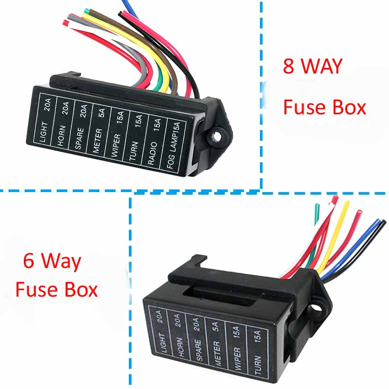 online get cheap car fuse box wiring aliexpress com alibaba group 6 8 way dc 12v volt fuse box 24v 32v circuit car trailer auto blade