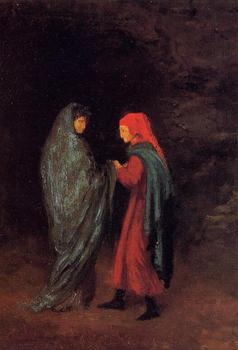 High quality Oil painting Canvas Reproductions Dante and Virgil at the Entrance to Hell (1857-1858) By Edgar Degas hand painted