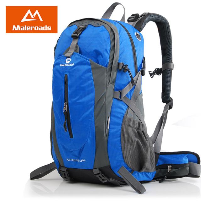 Maleroads 40L 50L Outdoor Camping Hiking Backpack Waterproof Travel Mochilas Mountain Climb Bagpack Laptop Bags For Men Women