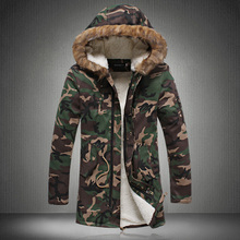 2016 плюс размер мужчины зима камуфляж вниз хлопка ватник длинные Корейских мужчин thicking пуховик M-5XL горячие продажа