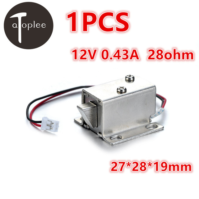 1PCS Mini 12V 0.43A 28ohm Electromagnetic Lock For Door Windows Cases Cabinets Control System Electronic Locks