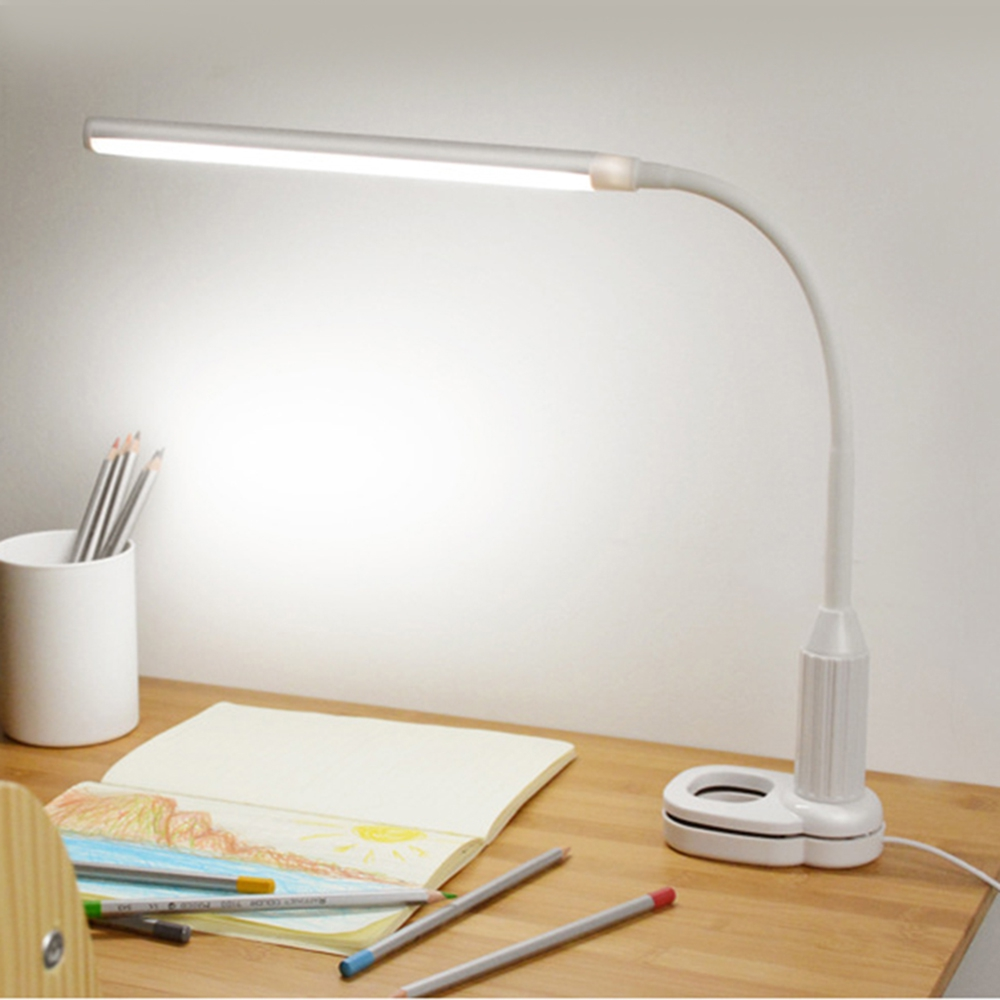 Hot Sale 5W LED Table Desk Clip Lamp Bedside Table lamp USB Rechargeable Lighting Lamp For Home Bedroom Study Touch Sensor White стоимость