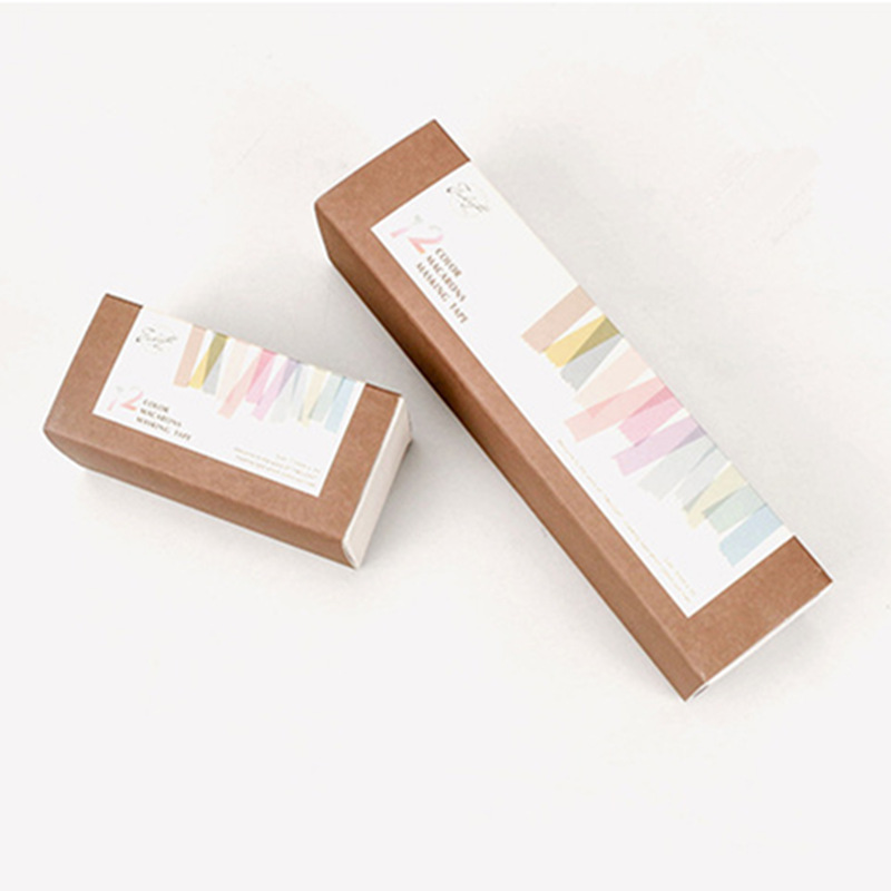 Купить с кэшбэком 12 color Macarons masking tape set 7.5mm Slim 15mm wide decoration washi tapes for diary album Stationery School supplies A6804