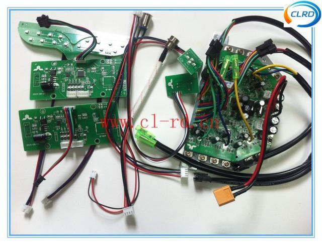"""Conjunto completo de peças de reparo do hoverboard mainboard aparador de carregamento porta de alimentação swith para 6.5 """"8"""" 10 """"de scooter"""