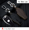 Genuine Leather CAR KEY CASE Automobile Special-purpose CAR KEY HOLDER For BENZ Use