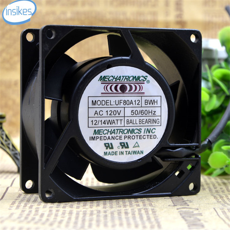 UF12A12 BWH AB Soft Start Cabinet Cooling Fan AC 120V 12W/14W 8038 8cm 80*80*38mm 50/60HZ