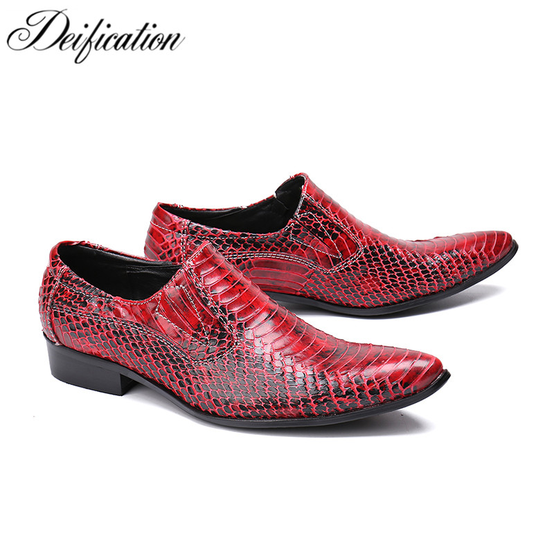 Black Red White Men Leather Dress Shoes Pointed Toe Formal Business Shoes Men's Flats Slip-On Solid Leather Mens Shoes Casual стоимость